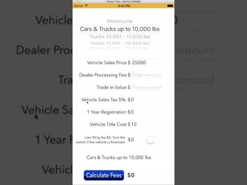 DMV Fee app tutorial