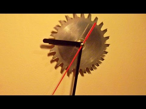 How To Make A Little Clock From A Circular Saw Blade - DIY Home Tutorial - Guidecentral
