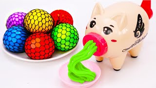 Learn Color with Noodle Machine | Nursery Rhymes | Play Doh | Color Balls