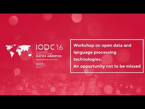 Workshop on open data and language processing technologies: An opportunity not to be missed