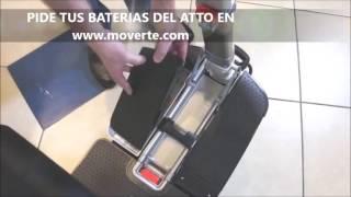 ¿Dónde están las baterias del Scooter ATTO?