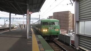 JR西日本 117系 T1編成 回送列車 683系+683系4000番台 サンダーバード  大阪行き  大津京駅  20200126