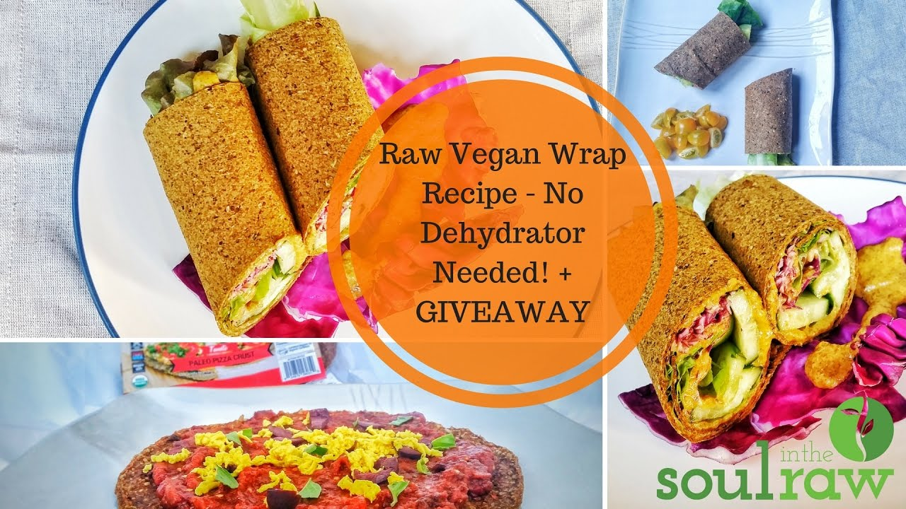 Raw vegan wrap recipe no dehydrator needed giveaway youtube forumfinder Images