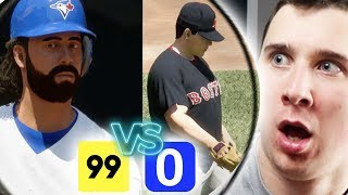 0 Overall Team VS 99 Overall Team! Impossible MLB The Show 17 Challenge