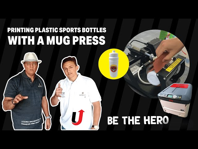 Printing Onto Plastic Sports Bottles With A Standard Mug Press | Tutorial | No sublimation