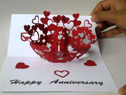 Anniversary Pop Up Card