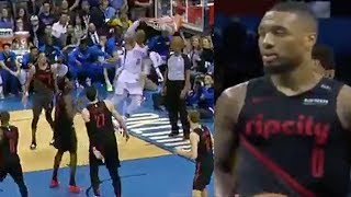 Russell Westbrook TRASH TALKS  Lillard, Nurkic, And Turner As He POSTERIZES Entire Blazers Squad!