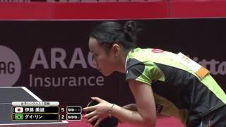 女子シングルス1回戦 伊藤美誠 vs グイ・リン 第6ゲーム