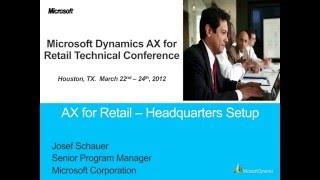 Microsoft Dynamics AX 2012 Retail HQ Setup