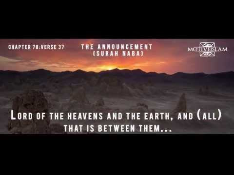 The Announcement (Surah Naba 78) English Only Translation of Quran by Pickthall