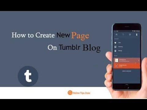 How to add Pages to Tumblr Blog