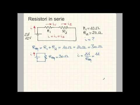 Circuiti elettrici resistori in serie