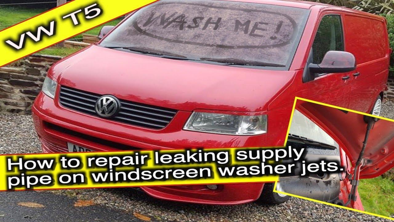 VOLKSWAGEN TRANSPORTER WASHER Windscreen PIPE REPAIR EASY FIX