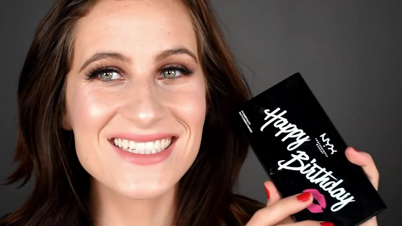 Nyx happy birthday palette swatches review and look using this nyx happy birthday palette swatches review and look using this palette free gift from ulta negle Image collections