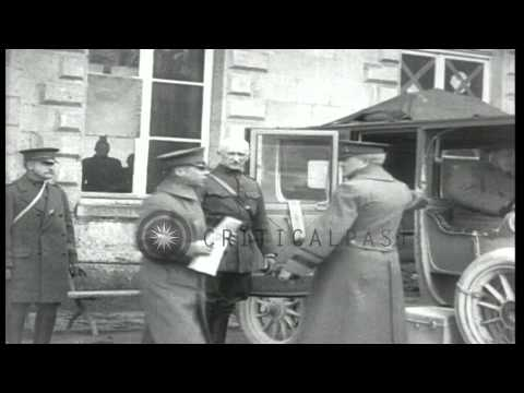 American General John J. Pershing visits US 26th Infantry Division Headquarters i...HD Stock Footage