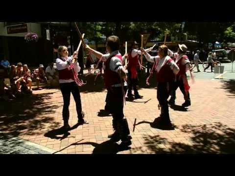 2014 NZ Morris Dancing Tour - Trafalgar Street