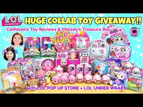 HUGE COLLAB GIVEAWAY w/ CATHLEEN'S TOY REVIEWS! LOL SURPRISE UNDER WRAPS POP UP STORE HAIRDORABLES +