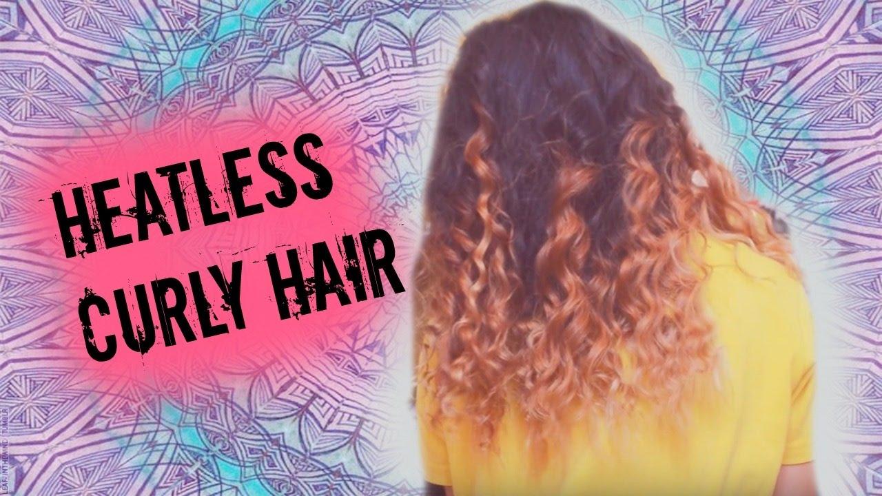 Heatless Overnight Curly Hair Rope Braid Youtube