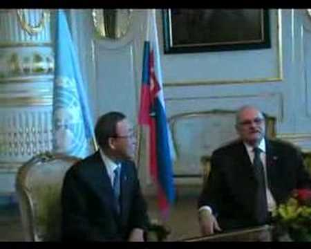 UN Secretary-General Mr. Ban Ki-moon visits Slovakia, 2 day