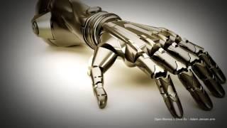 Демонстрация прототипа бионического протеза руки разработанного компанией Square Enix совместно с ребятами