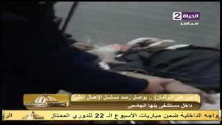شاهد.. فيديو كارثي لمريض داخل مستشفى بنها الجامعي