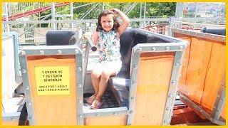 Roller Coaster Trenine Bindik, Rüya Biraz Eğlendi Biraz Çığlık Attı l Çocuk Videosu