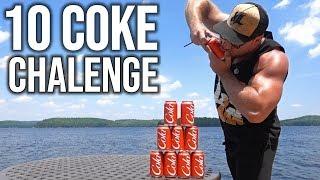 10 COCA COLA SHOTGUN CHALLENGE!