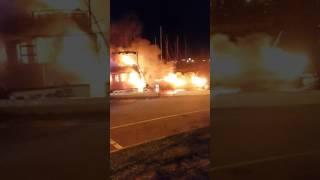 Violent incendie de bateaux sur le port de Porto-Vecchio en Corse
