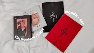 unboxing: kim wooseok tasty & woodz set album