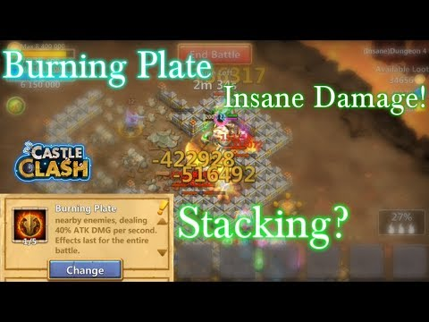 Castle Clash - Burning Plate Stack?_ Insane Damage_ Perfect For Dungeons