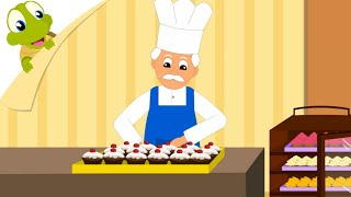 The muffin man nursery rhyme