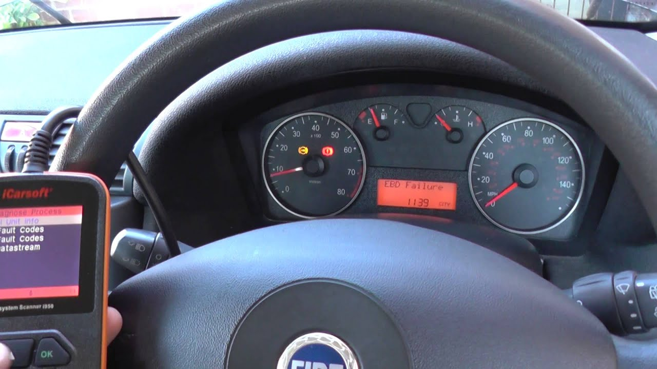 fiat abs problem how to erase warning light codes [ 1280 x 720 Pixel ]