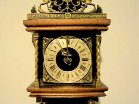 Holland Antique Dutch Zaandam Zaanse Wall Clock Wuba