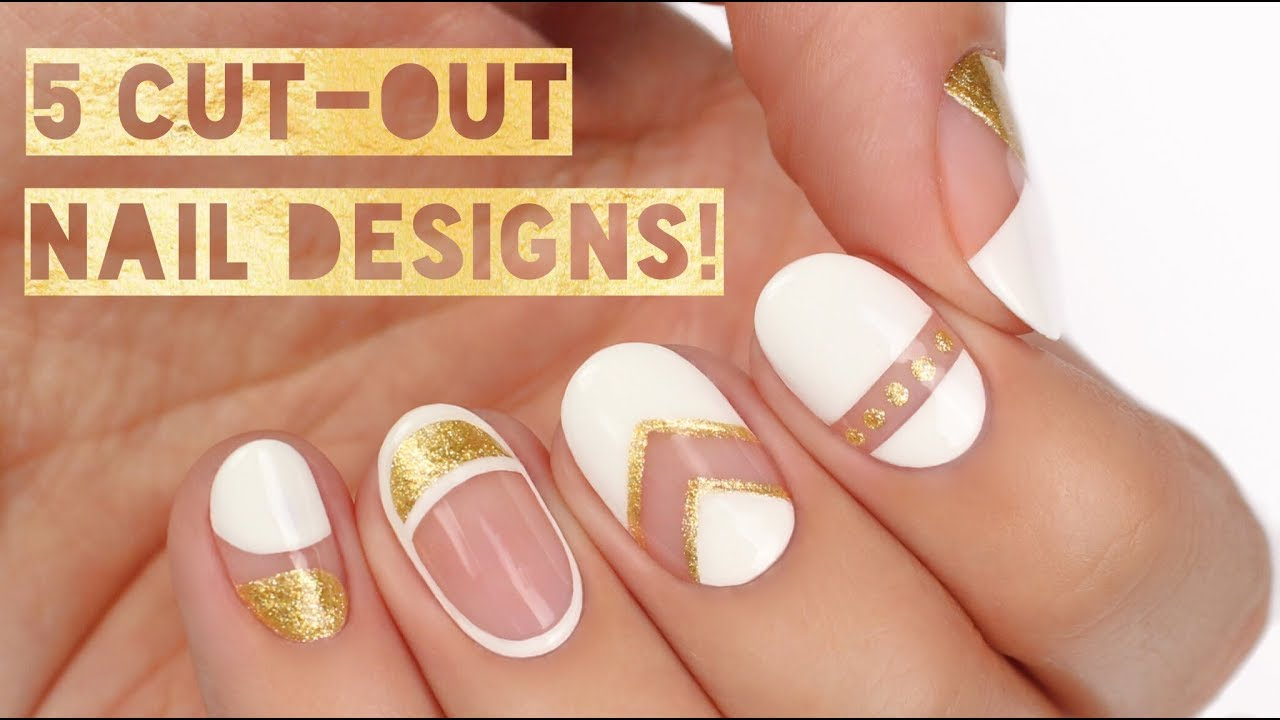 5 Perfect Ways To Wear Negative Space Nails Youtube