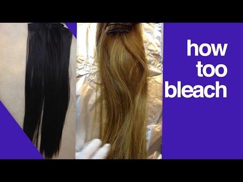 How To Bleach Hair Extensions ,make  Hair Extensions Lighter ,dye Hair Extensions From Dark To Blond