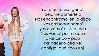 Ozuna, Karol G, Myke Towers - Caramelo Remix (Letra/Lyrics)