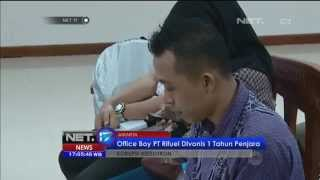 OB PT Rifuel Tersangka Kasus Videotron Divonis 1 Tahun Penjara -NET17