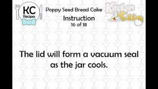 Poppy Seed Bread Cake - Kitchen Cat
