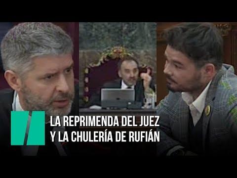 'Usted no ha venido aquí a dar su opinión', la reprimenda del juez a Gabriel Rufián