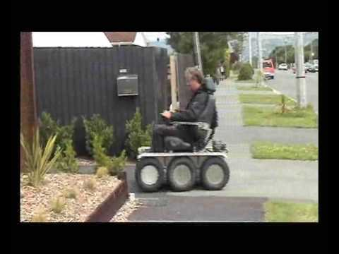 Electric wheelchair 6x6 explorer youtube for How to motorize a wheelchair