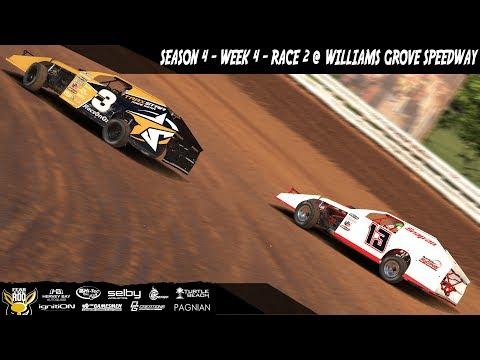 iRacing DIRTcar UMP Modifieds Week 4 Race 2 @ Williams Grove Speedway