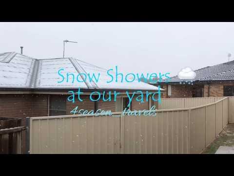 SNOW SHOWERS in Orange, NSW, Australia