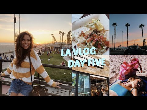 LA VLOG DAY FIVE | HUNTINGTON BEACH DAY, FISH TACOS, SHOPPING & MORE!
