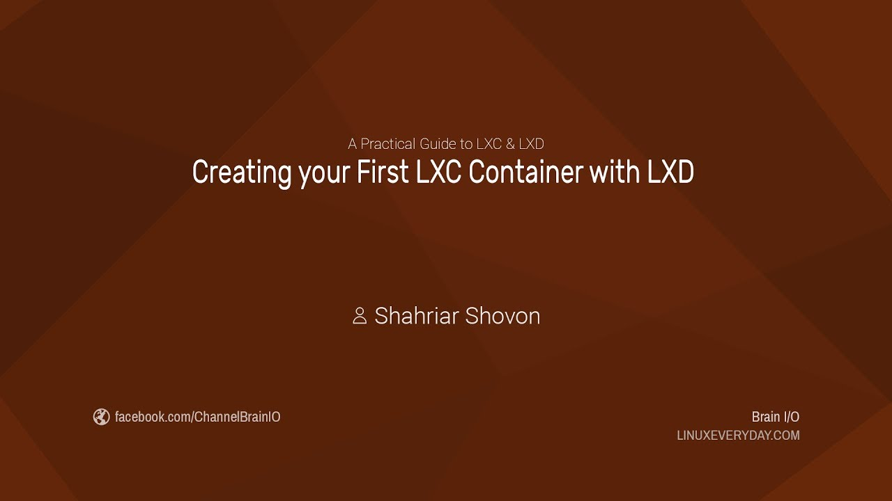 07  Creating your First LXC Container with LXD