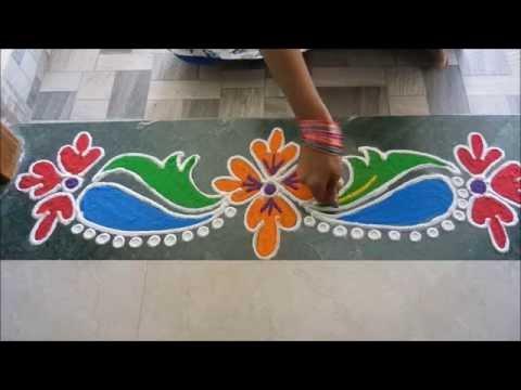 how to make kundan rangoli borders
