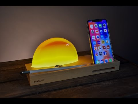 Wireless Charging and Meditation - The Ambient Lamp from Masdio