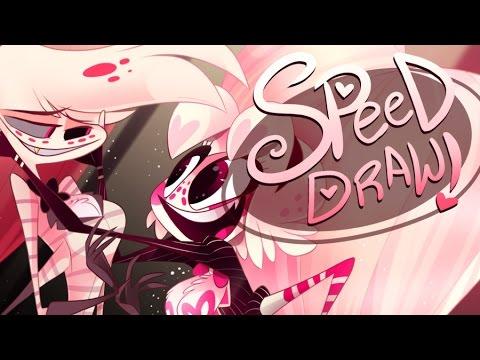 Speed Draw Family Hazbin Hotel Vivziepop Youtube