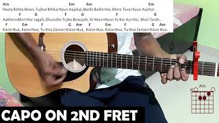 Kaise hua perfect guitar chords lesson kabir singh songs #shahidkapoor #kiaraadvani #kabirsingh #arijitsingh