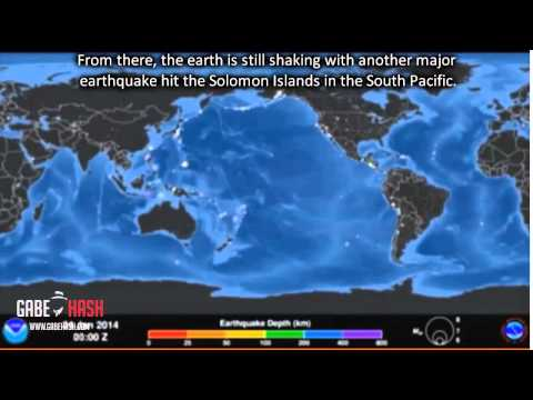 ANIMATION OF INCREASED SEISMIC ACTIVITY IN THE WORLD MAY 5, 2014