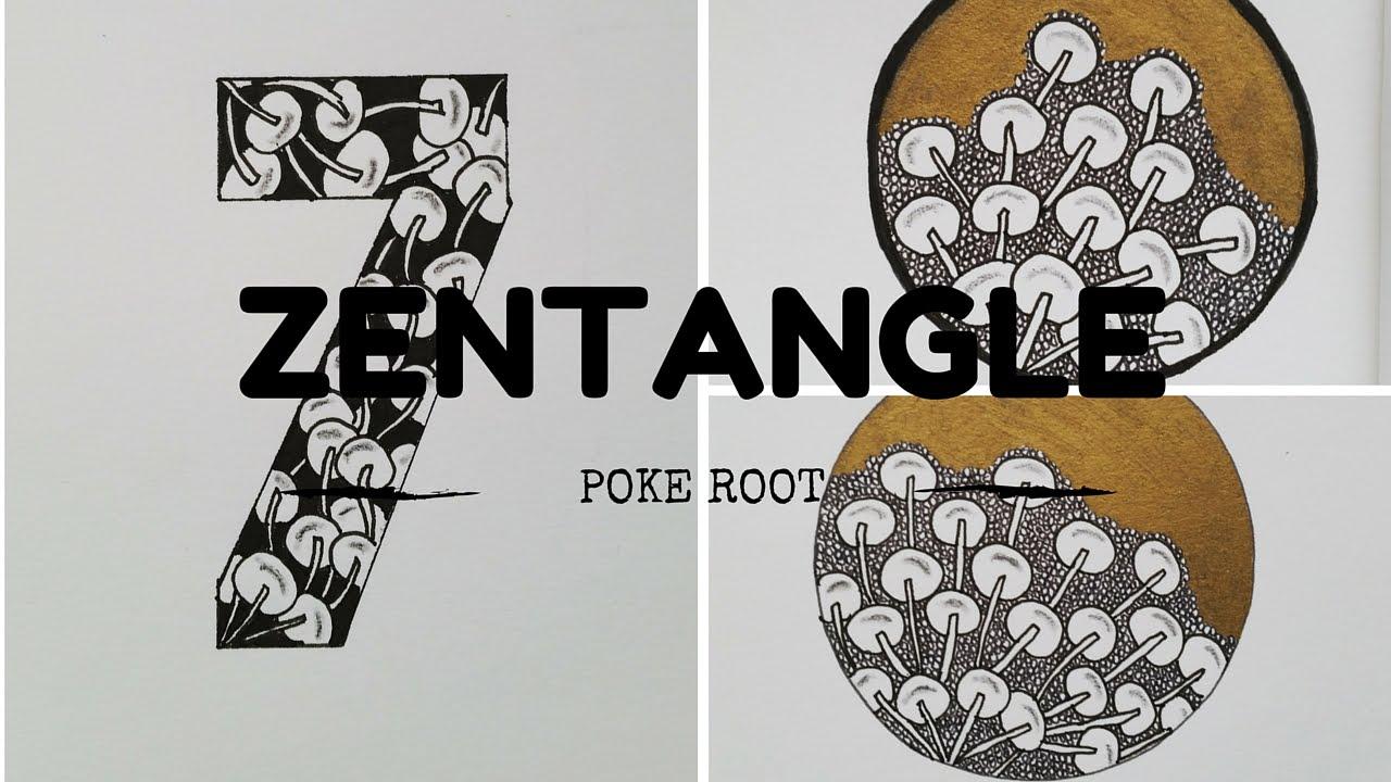 Zentangle Patterns For Beginners 1 Poke Root Youtube